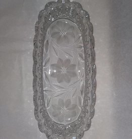 "Lead Glass Relish Dish, 11.5"", E.1900's"