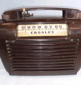 """Crosley Table Top Radio, Brown Bakelite, 1946, 13x5x10"""""""
