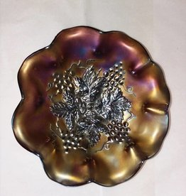 "Northwood Grape Leaves Bowl, 8.5"", c.1912"