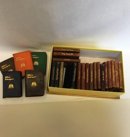 24 Leatherbound Mini-books, William Shakespeare, Published early 1900's by Knickerbocker Leather & Novelty Co, New York