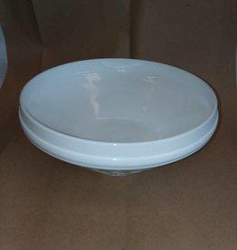 "Milk Glass Bowl, Wheat Pattern, 10x4"", c.1950"