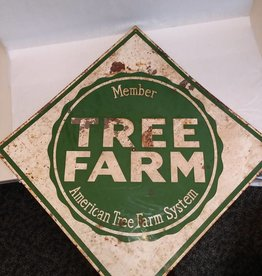 "Tree Farm Metal Sign, 22x22"", Early 1950's"