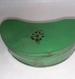 "Metal Green Worm Can, 6"", c.1960"