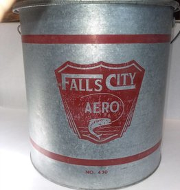 """Falls City Minnow Bucket, #430, 13.5x13.5"""", c.1960"""