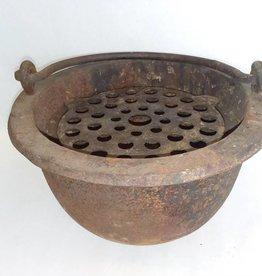 "Cast Iron Foundry Pot, 10x6"", 1870's"