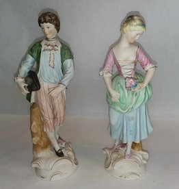 Colonial Couple, 2 Pieces, c.1950