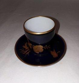 Limoge France Porcelain Artistique Saki Cup & Saucer, c.1950's