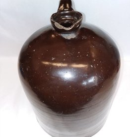 "Brown Jug, Chipped (As Is), 12"", 3 Gal. L.1800's"