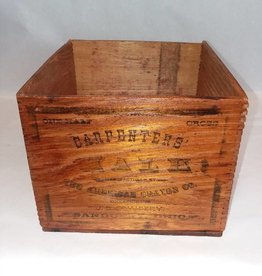 """Wood Carpenter's Chalk Box, 7.75x8.5x6"""", E.1900's"""