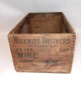 """Wickwire Bros, Cortland, NY Box, 12x8x6"""", c.1930"""