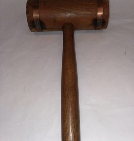 """Copper Banded Carpenter's Mallet 13.5"""" long, 1950's"""