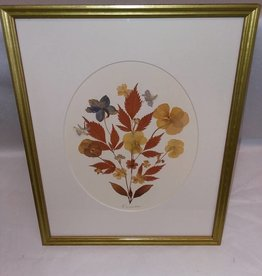 Pressed Dried Flowers, Framed & Signed, 12x15""