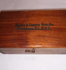 "Brown & Sharpe Wooden Advertising Box, 8x4.5x3"", 1930's"