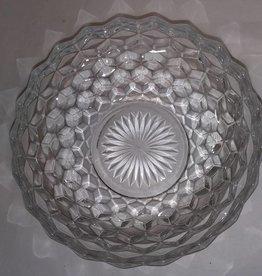 "Fostoria American Pattern Glass Bowl, 8.5"", 1950's"