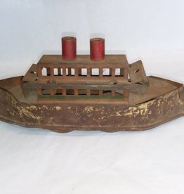 "Dayton Friction Toy Steamship Hill Climber 13"" Pressed Steel 1900 As Is"