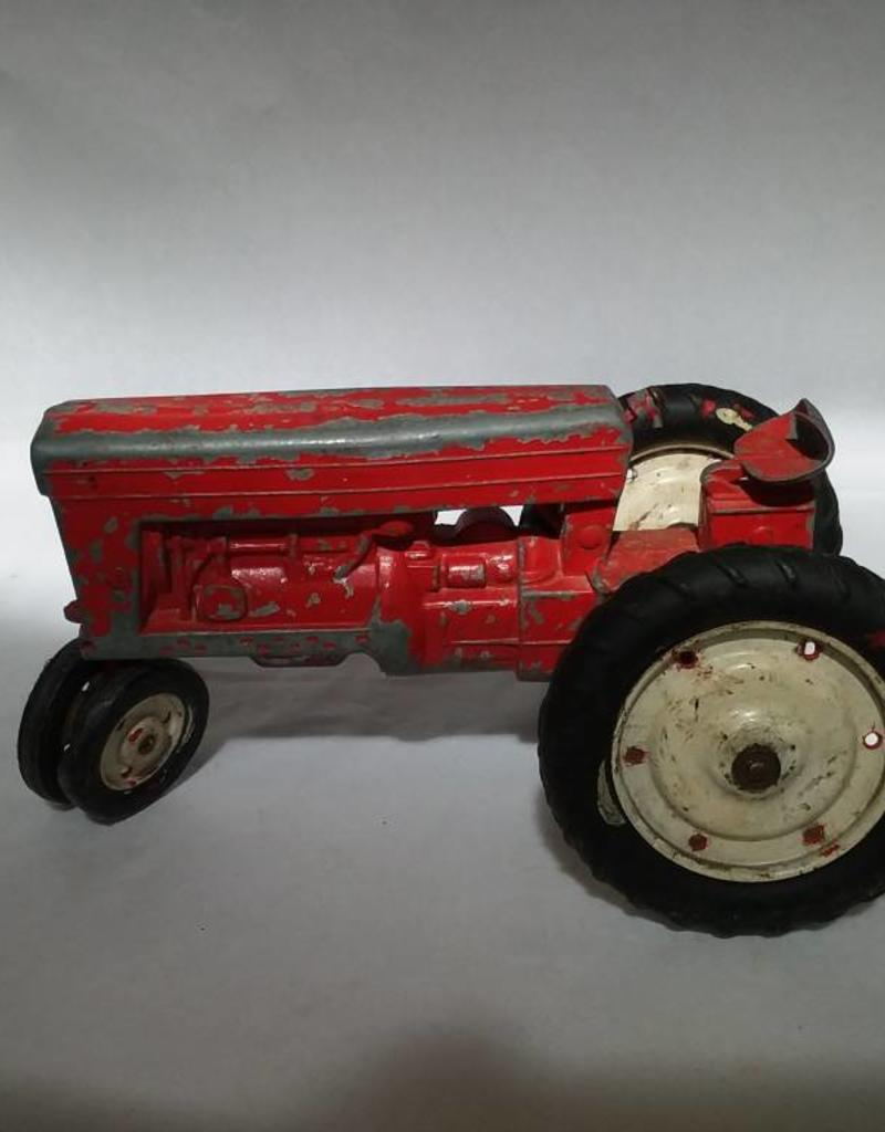 3 Diecast Toy Tractors for Parts (1 Hubley Jr), 50's/60's, Rubber Tires