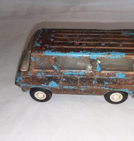 Tonka Toy Mini Van, Used & Worn, No Windows In Rear Doors, c.1970