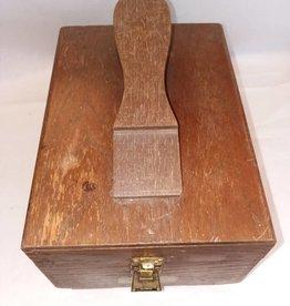 "Oak Griffin Shoeshine Kit w/Shinemaster Label, 50's-60's, 11x8x10"""