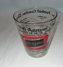 Black Label Beer Glass, Souvenir, 14 Ounce, 1975