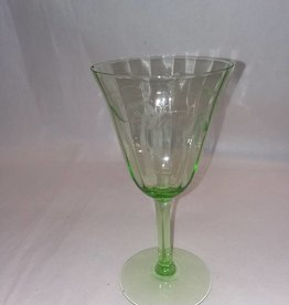 "Etched Gr Dep Wineglass, 6.5"" Tall, 1920's"