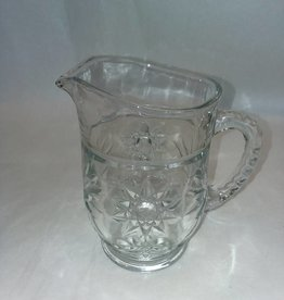"Pressed Glass Milk Pitcher, 5.75"", c.1940"