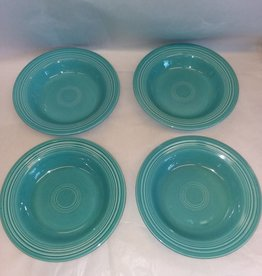 "Early Fiesta Turquoise Soup Bowl/Deep Plate, 8.5"", c.1940"