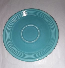 """Early Fiesta Turquoise Saucer, 6"""", c.1940"""