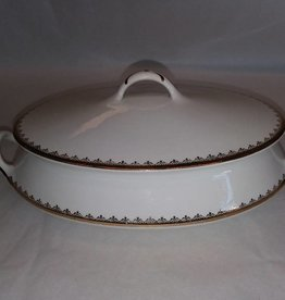 Oval Vegetable Bowl with Cover, c.1940