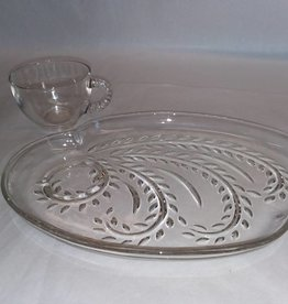 Clear Glass Snack Set