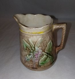 "Majolica Syrup Pitcher, 4.75"" high, m.1800's"