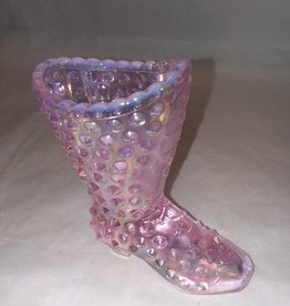 """Fenton Clear Pink Hobnail Boot, 4x4"""""""