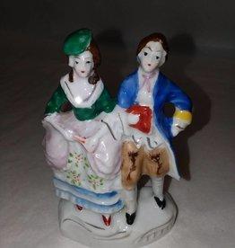 """Porcelain Victorian Couple, Japan, 4"""", c.1950"""