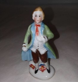 "Occupied Japan Porcelain Colonial Man, L.1940's, 4"" High"