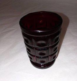 "Ruby Juice Glass/Toothpick Holder, 3"", M.1900's"