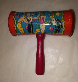 "Kirchof Tin Party Can Rattle, 4x1.75"", L.1940's"