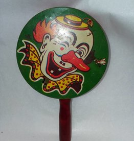 "Pan Noisemaker, Clown Face, 4x7/8"", c.1950"