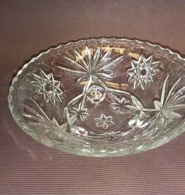 "Footed Pressed Glass Candy Dish, 6.75"", 1960's"
