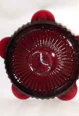 """Small Ruby Red Ashtray, 4"""", 1950's"""
