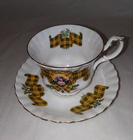 Scottish Tartan Cup & Saucer Royal Albert Bone China MacLeod