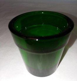 "Emerald Green Votive Holder, 2.5"" high, 1960's"