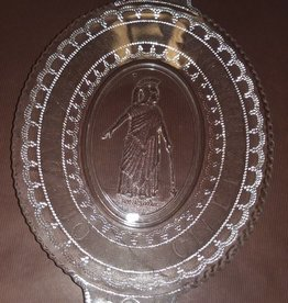 "Minerva Glass Bread Plate, 13x9"", c.1895"