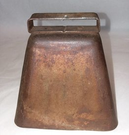 "Copper Cow Bell, 4.5x3.5x4"", E.1900's"