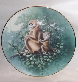 "The Golden Monkey Plate, China's Natural Treasures, 8.5"", 1992"