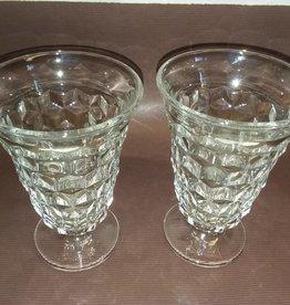 "2 Fostoria Iced Tea Glasses, , 5.75"", 1950's"