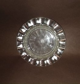 "Clear Glass Ashtray w/Pinwheel Design Bottom, 1950's, 4.25"" Diameter"