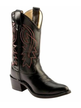 Jama Kids Black Western Boot 8110