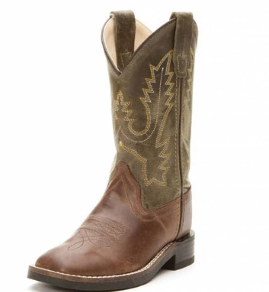 Jama Kids Square Toe Western Boot BSC1877