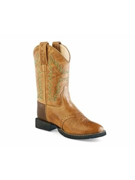 Jama Youth Brown Round Toe Boot CW2513Y