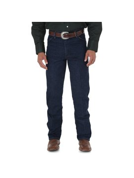 Wrangler Mens Regular Fit Blue Stretch Jeans 947STR