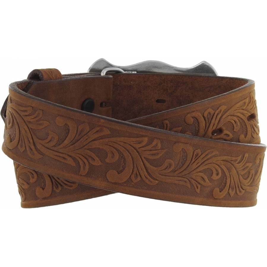 Leegin Kid's Little Texas Belt Aged Bark C60119